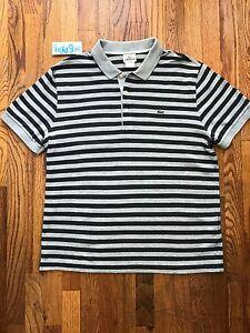 striped lacoste polo vintage