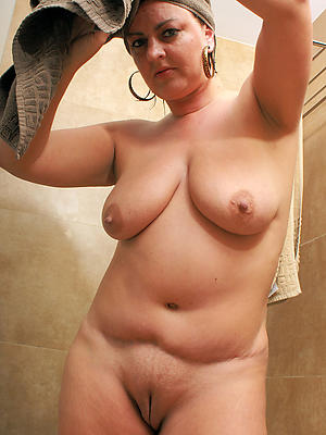 the mature ladies shower in