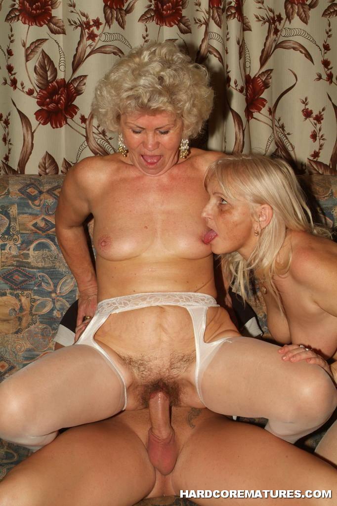 granny rideing cock