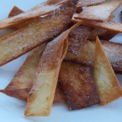 sugar cinnamon strips tortilla