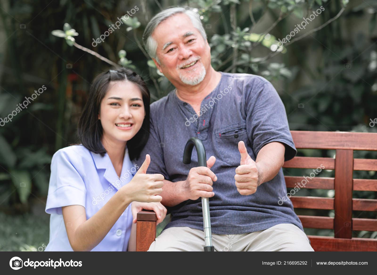 young men asian old women