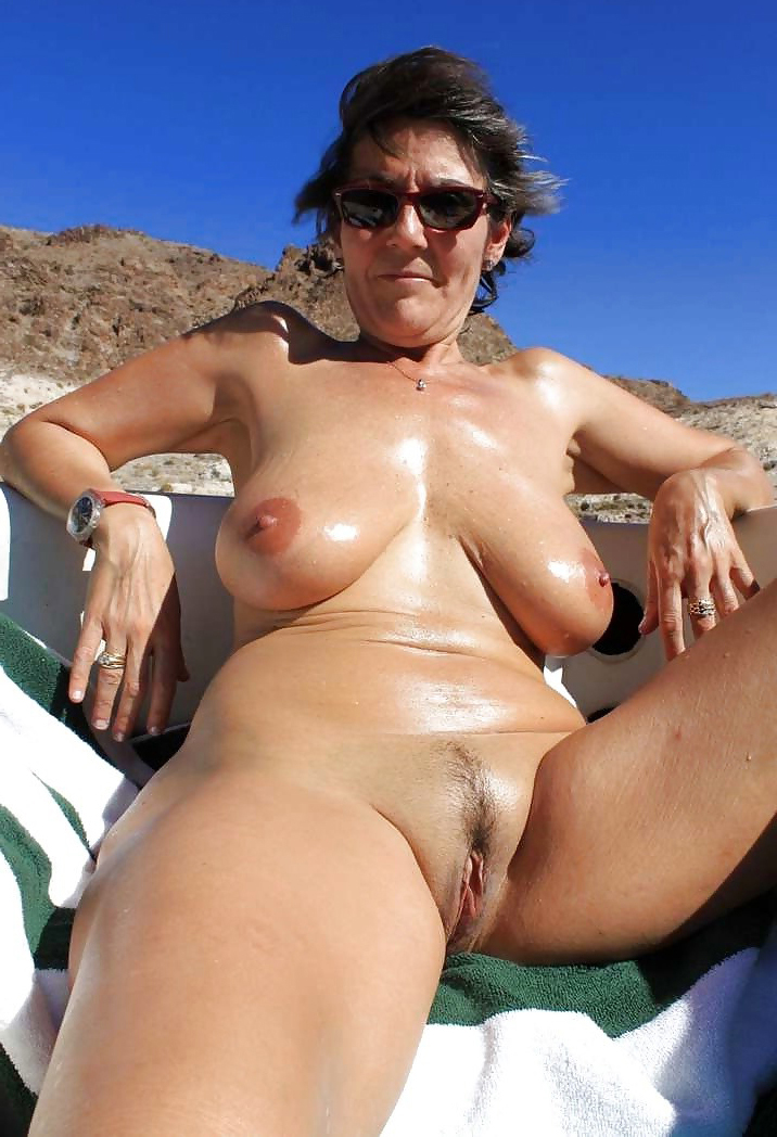 pussy mature beach the on