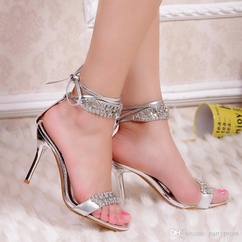 silver heels sexy