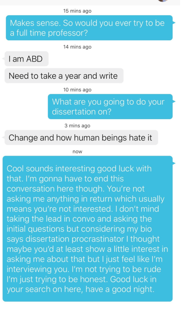 conversation to start how app dating on
