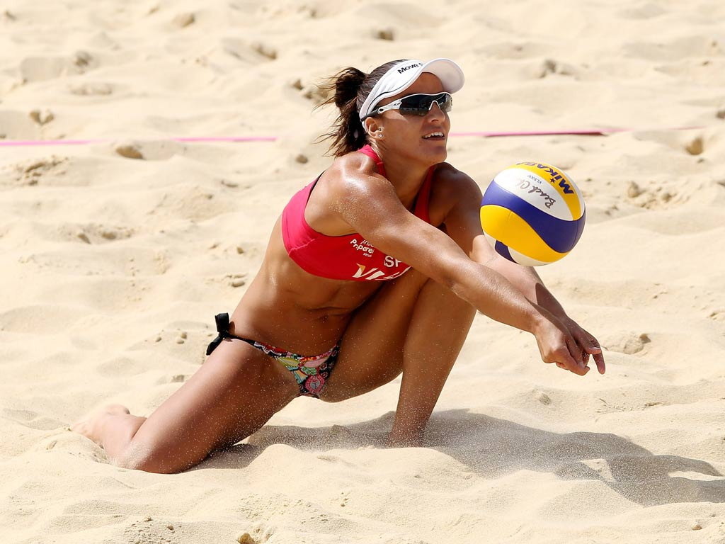 volleyball nude beach players
