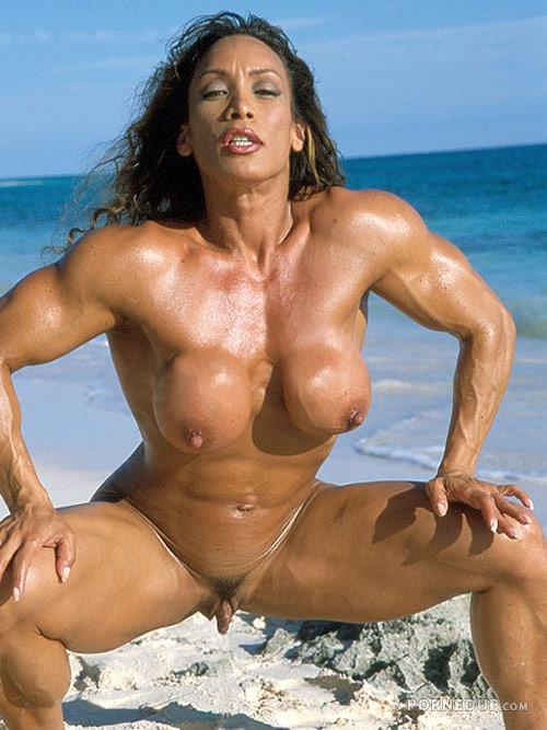 huge body builder clits