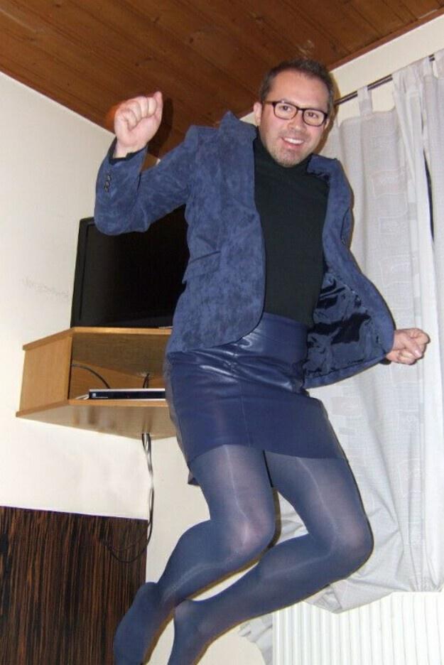 pantyhose men women wearing